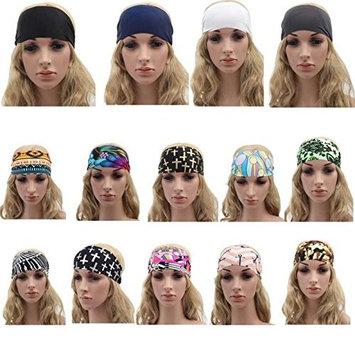 DEESEE(TM) Wide Yoga Headband Boho Headband Running Headband Womens Hair Accessories (G