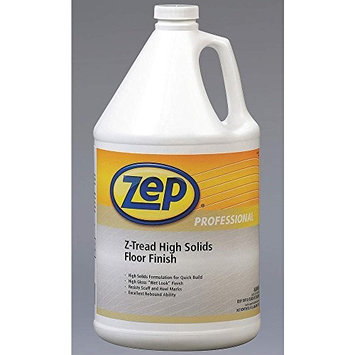 Zep Professional R03724 Z-Tread High Solids Floor Finish, Mild Citrus Fragrance, Opaque/White (Case of 4 Gallons)