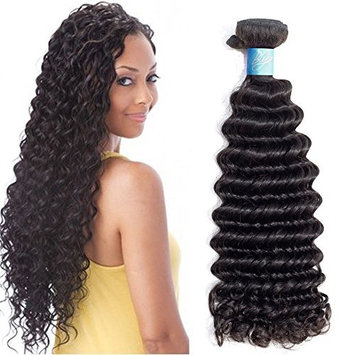 BLY Brazilian Virgin Human Hair Bundles Deep Wave Curly 3 Bundles Pack Unprocessed Remy Human Hair Weft Natural Color (16 18 20inch )