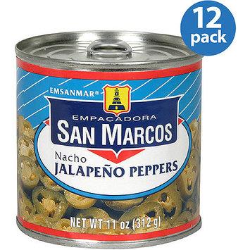 Empacadora San Marcos Nacho Jalapeno Peppers, 11 oz, (Pack of 12)