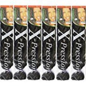X-pression Premium Original Ultra Braid. - Color 33 ( Pack of 6 )