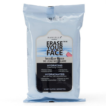 Danielle Creations Erase Your Face Micellar Water Hydrating Cleansing Cloths - Travel Size, Blue