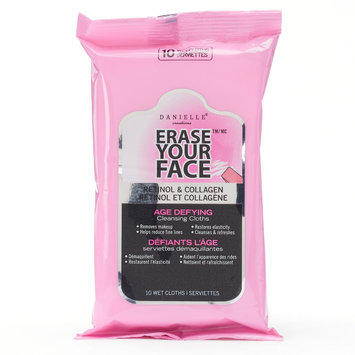 Danielle Creations Erase Your Face Retinol & Collagen Age Defying Cleansing Cloths - Travel Size, Pink