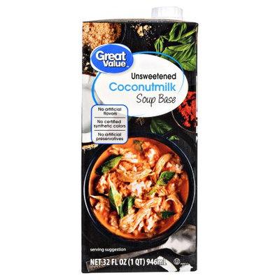 Great Value Gv Unsweetened Coconut Milk 32oz