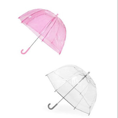 totes ISOTONER Kids Clear Bubble Umbrella (Pack of 2), Pink/Clear
