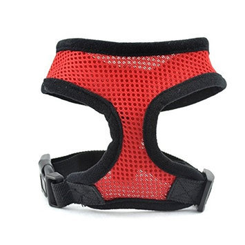 Ids Red Soft Padded Dog Cat Pet Mesh Harness Safety Strap Vest - Medium
