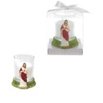 Ddi Jesus Poly Resin Candle Set(Case of 48)
