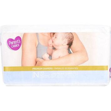 Wal-mart Stores, Inc. Parent's Choice Premium Diapers, Newborn, 32 Diapers