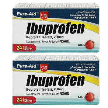 Pure-Aid Ibuprofen-24 tablets (2 Pack)