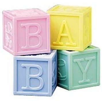 Wilton Favour Container - Baby Blocks