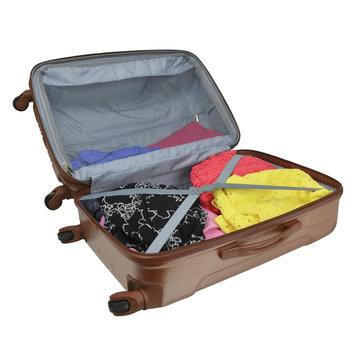 Travelers Club Luggage Travelers Club Polaris 3-Piece Metallic Hardside Expandable Spinner Luggage - Pale Gold