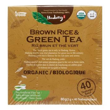 Hedong HODONG Natural Organic Brown Rice & Green Tea 40 teabags
