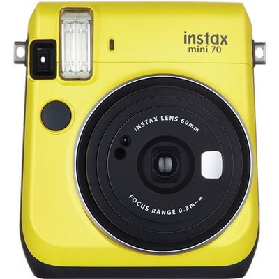 Fujifilm 16496122 instax mini 70 Instant Film Camera - Canary Yellow