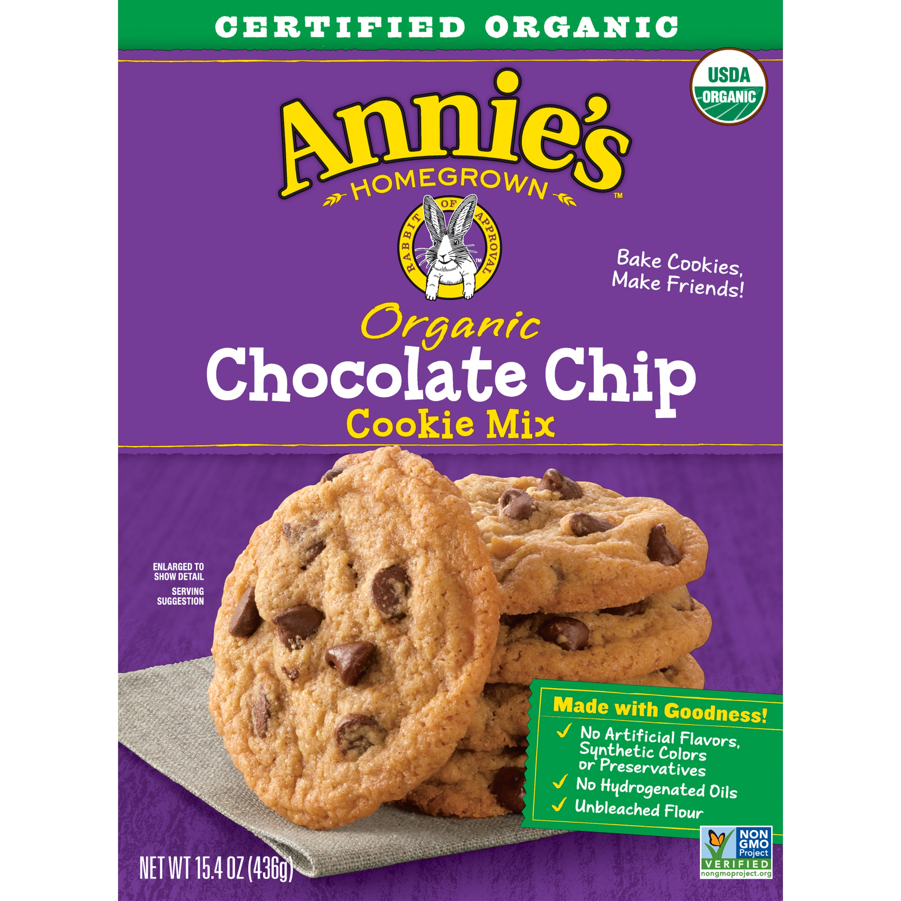 Annie's Organic Chocolate Chip Cookie Mix, 15.4 oz