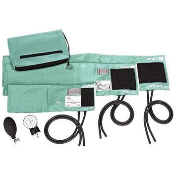 Prestige Medical 3-in-1 Aneroid Sphygmomanometer Set with Carry Case, Aqua Sea