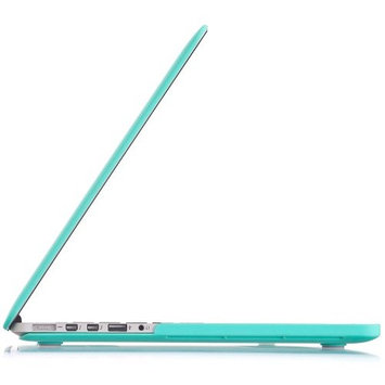 Kuzy TEAL Turquoise HOT Blue Rubberized Hard Case Cover for Apple MacBook Pro 15.4