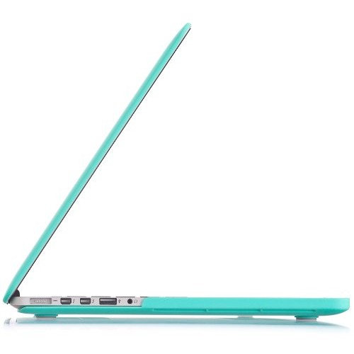 """Kuzy TEAL Turquoise HOT Blue Rubberized Hard Case Cover for Apple MacBook Pro 15.4"""" with Retina Display Model: A1398 (NEWEST VERSION) 15-Inch - TEAL"""