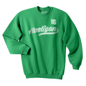 Crazy Dog TShirts - Hooligan All Star 16 Funny Lucky St. Patrick's Day Unisex Crew Neck Sweatshirt