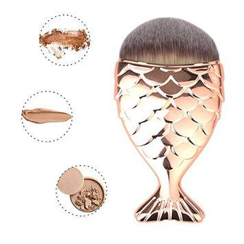 MEYSHAR Makeup Brush Mermaid Fish Makeup Brush Fishtail Bottom Brush Powder Blush Foundation Cosmetic Brushes Tool