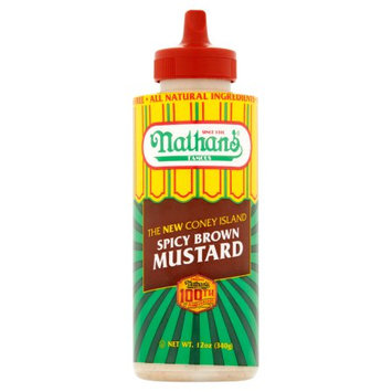 Gold Pure Food Products Nathan's 12 oz. Squeeze Spicy Brown Mustard