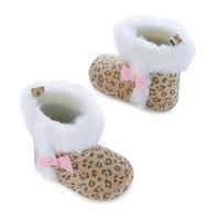 born Baby Girls Cheetah Fur Boots, 0-6M