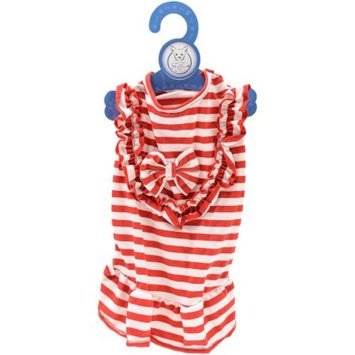 Stellar Pet Boutique Red and White Dress
