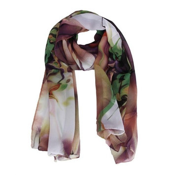 Datework Lady Long Wrap Women's Shawl Chiffon Scarf Scarves (Pink)