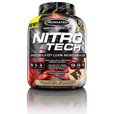 MuscleTech Nitro-Tech Whey Isolate+, Toasted S'mores, 4 Pounds
