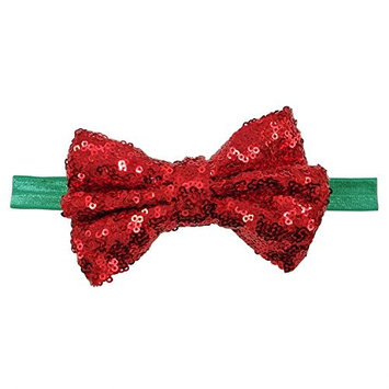 Rarelove Baby Girls Headband Rose Red Bowknot Sequin Hair Bands Accessories