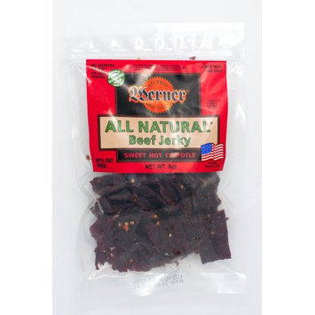 Werner Gourmer Meat Snacks Werner All Natural Sweet Hot Chipotle Beef Jerky 9oz