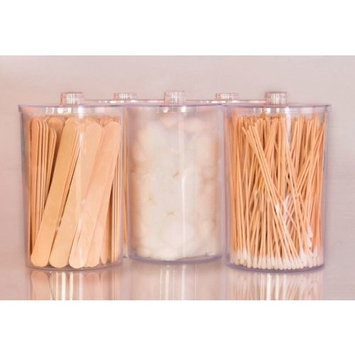 Clear Sundry Jars, Unlabeled, set of 5 each