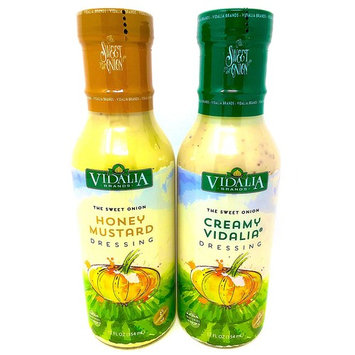 Vidalia Brands The Sweet Onion -2 Bottle Pack - Honey Mustard Dressing and Creamy Vidalia Dressing Low Sugar Low Carb