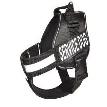 Dogline N0202-1 22-30 inch Unimax Multi Purpose Dog Harness, Black