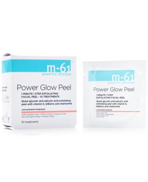 m-61 by Bluemercury PowerGlow Peel 1 Minute 1-Step Exfoliating Facial Peel - 10 Treatments