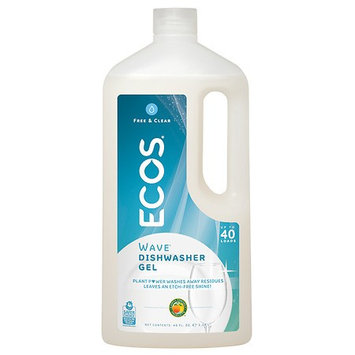 Earth Friendly Products Wave 2X Ultra High Efficiency Free & Clear Auto Dishwasher Gel Free & Clear 40.0 fl oz(pack of 3)