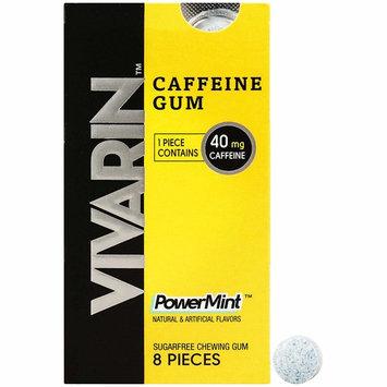 Vivarin Caffeine 8 Pieces, Sugarfree Chewing Gum, 12 Count