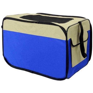 Aleko Products Heavy Duty Indoor / Outdoor Portable Pop Up Dog Crate Blue