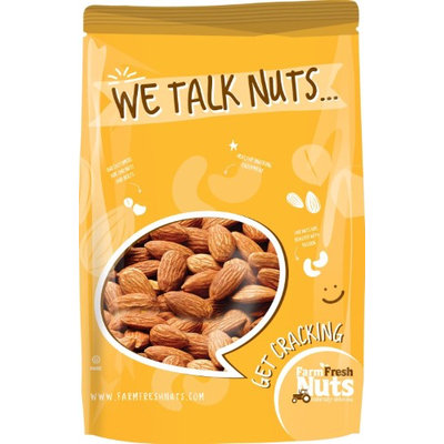 Dry Roasted Salted Almonds by Farm Fresh Nuts (4 LB)