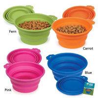 Pet Edge Dealer Services Guardian Gear Bend A Bowl for Dogs Medium Pink