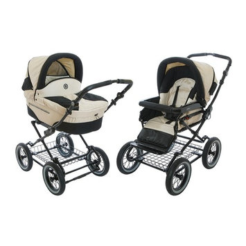 Roan Rocco Classic Pram Stroller 2-in-1 with Bassinet and Seat