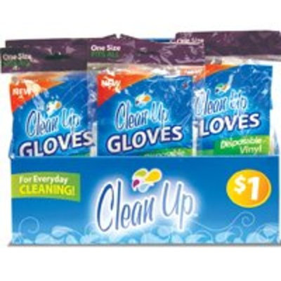 Clean Up Rubber Gloves & Sponges