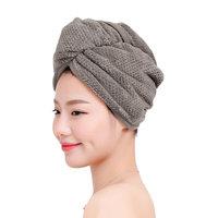 Hair Drying Towel, Ultra Absorbent Coral Velvet Dry Hair Hat Bath Shower Makeup Fast Drying Head Hair Towel Wrap Bathing Spa Swimming Twist Turban Hat Dry Cap Towels Gift