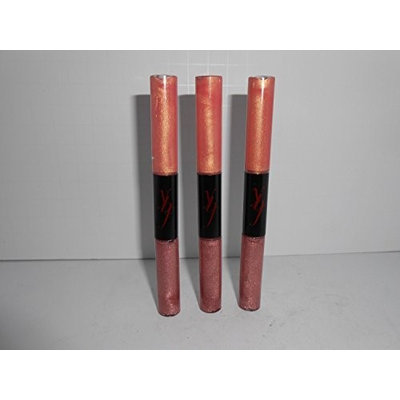 Your Best Friend YBF-Lip Glosses DUO Colors: Powerful Pink 0.1 oz and Captivating Coral 0.1 oz Lot of 3 Pcs