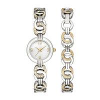 Ladies Touch of Rose Bracelet Watch Set