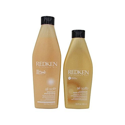 Redken All Soft Shampoo 10.1 oz and Conditioner 8.5 oz Duo (As Pictured)