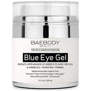 Baebody Blue Eye Gel for Appearance of Dark Circles & Wrinkles - w Mediterranean Blue Algae Extract - for Under and Around Eyes - 1 fl oz