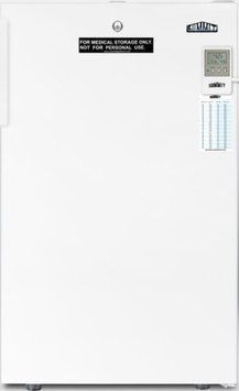Summit FF511L7MED Med 4.1 Cu. Ft. White Undercounter Compact Medical Compact Refrigerator