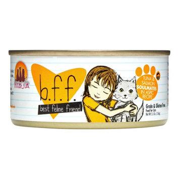 Best Feline Friend Weruva BFF Soulmates Recipe Tuna & Salmon in Aspic Adult Wet Cat Food, 5.5 Oz (Pack of 8)