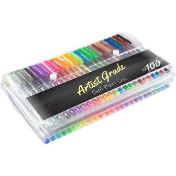Trademark Global Llc Color Gel Pen Set 100-Count for Adult Coloring Scrapbooking Doodling Comic Animation by Artist Grade