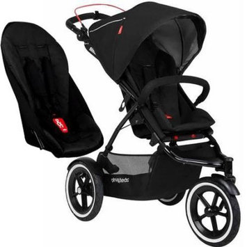 Phil & Teds Sport V5 5 With Double Seat - Black